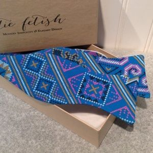 Hmong Blue, pink and black bow tie Boutique